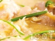 Рецепта Соеви хапки със сос от бяло вино и хрян